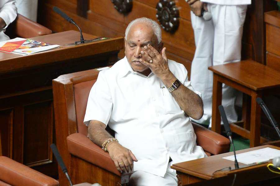 Bengaluru: BJP legislator B.S. Yeddyurappa at the Karnataka Assembly, in Bengaluru on May 19, 2018. (Photo: IANS) by .
