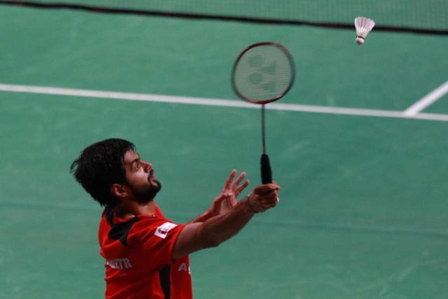 Chennai: B.S.Praneeth of Hyderabad Hunters reacts after winning against K.Srikanth of Awadhe Warriors in a Premier Badminton League match at Jawaharlal Nehru Indoor Stadium of Chennai on Jan 7, 2018. (Photo: IANS) by .