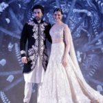 "Mumbai: Actors Ranbir Kapoor and Deepika Padukone showcase creation of fashion designer Manish Malhotra at ""The Walk of Mijwan"" in Mumbai on April 19, 2018 . (Photo: IANS) by ."