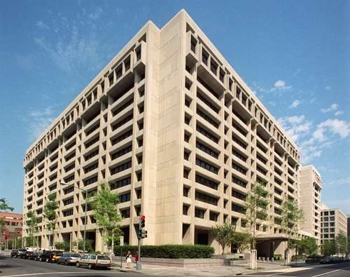 The headquarters building of the International Monetary Fund in Washington. (Photo: IANS/IMF) by .