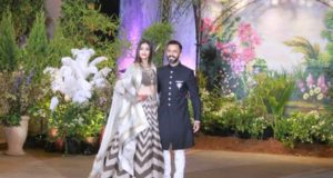 Mumbai:Actress Sonam Kapoor and businessman Anand Ahuja at their wedding reception in Mumbai, on May 8, 2018. (Photo: IANS) by .