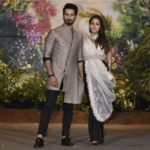 Mumbai: Actor Shahid Kapoor and his wife Mira Rajput​ at the wedding reception of actress Sonam Kapoor and businessman Anand Ahuja in Mumbai, on May 8, 2018. (Photo: IANS)​ by .