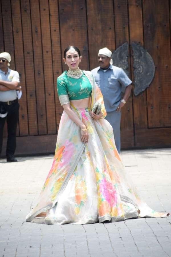 Mumbai: Actress Karisma Kapoor during wedding ceremony of Sonam Kapoor and Anand Ahuja in Mumbai on May 8, 2018. (Photo: IANS) by .