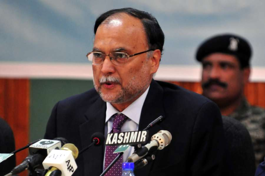ISLAMABAD, May 6, 2018 (Xinhua) -- File photo taken on April 26, 2018 shows Pakistani Interior Minister Ahsan Iqbal speaking during an event in Islamabad, Pakistan. Pakistani Interior Minister Ahsan Iqbal was shot and injured in an assassination attempt during a rally in Narowal district of the country's eastern Punjab province on Sunday evening, police said. (Xinhua/Ahmad Kamal) (lrz/IANS) by .