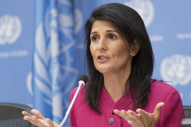 Nikki Haley, the United States Permanent Representative to the United Nations. (Photo: UN/IANS) by .