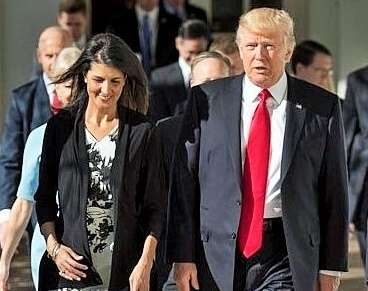 Nikki Haley became the first Indian American to join the United States cabinet. President Donald Trump appointed her as the Permanent Representative to the United Nations, a cabinet rank position in the US. (Photo: White House/IANS) by .