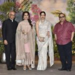 Mumbai: Actress Juhi Chawla and her husband Jay Mehta at the wedding reception of actress Sonam Kapoor and businessman Anand Ahuja in Mumbai, on May 8, 2018. (Photo: IANS) by .