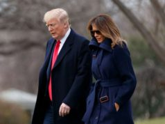 "WASHINGTON, March 19, 2018 (Xinhua) -- U.S. President Donald Trump (L) and First Lady Melania Trump depart the White House in Washington D.C., the United States, on March 19, 2018. U.S. President Donald Trump on Thursday suggested ""the ultimate penalties"" against drug dealers in a bid to fight the country's rampant opioid crisis. (Xinhua/Ting Shen/IANS) by ."