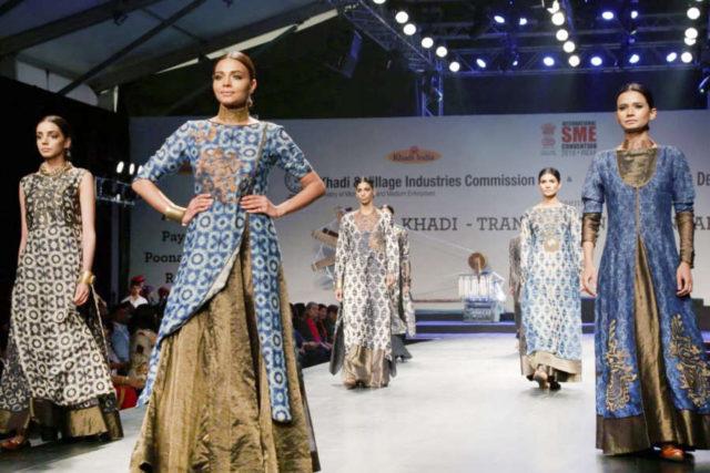 New Delhi: Model showcase creation of fashion designer Poonam Bhagat collections at FDCI Fashion Show