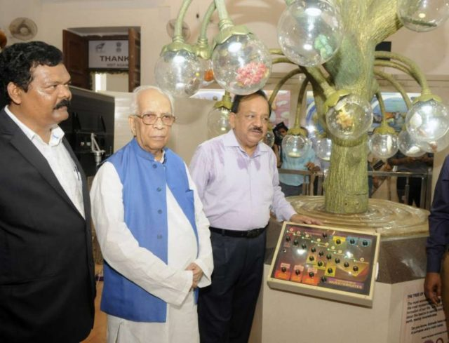 Kolkata: West Bengal Governor Keshari Nath Tripathi and Union Minister of Environment, Forest, Climate Change, Science & Technology Dr Harsha Vardhan visit after inaugurating the renovated Zoological and Botanical galleries maintained by Botanical Survey of India (BSI) at Indian Museum in Kolkata on May 9, 2018. (Photo: IANS) by .