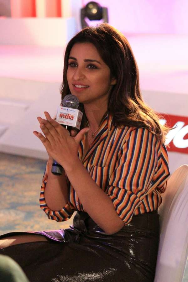 "Mumbai: Actress Parineeti Chopra, who is the face of a ""Behtar India"" campaign at the launch of campaign in Mumbai on April 10, 2018. (Photo: IANS) by ."