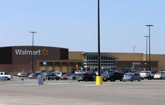 SAN ANTONIO (U.S.), July 23, 2017 (Xinhua) -- Photo taken on July 23, 2017 shows a Walmart parking area where an illegal immigrants' incident occurred in San Antonio, Texas, the United States. Eight people were found dead in a trailer carrying illegal immigrants at the Walmart parking area in southern Texas City of San Antonio early Sunday morning, authorities said. (Xinhua/Yan Bo/IANS) by .
