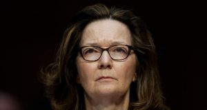 WASHINGTON, May 9, 2018 (Xinhua) -- Gina Haspel, nominee for Director of Central Intelligence Agency, testifies at her confirmation hearing before the Senate Intelligence Committee on Capitol Hill in Washington D.C., the United States, on May 9, 2018. (Xinhua/Ting Shen/IANS) by .