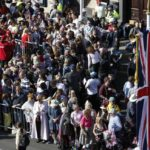 WINDSOR, May 19, 2018 (Xinhua) -- Well-wishers gather outside Windsor Castle for the royal wedding of Prince Harry and his bride Meghan Markle in Windsor, Britain on May 19, 2018. (Xinhua/Han Yan/IANS) by .