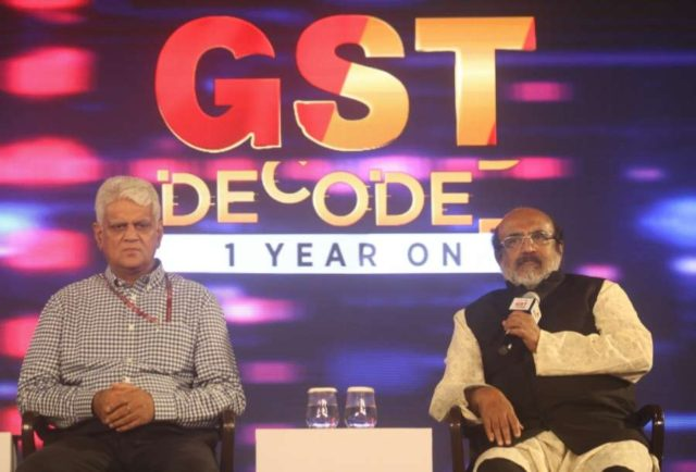 New Delhi: Kerala Finance Minister Thomas Isaac addresses during a panel discussion on 'GST Decoded – 1 Year On', in New Delhi on June 28, 2018. (Photo: IANS) by .