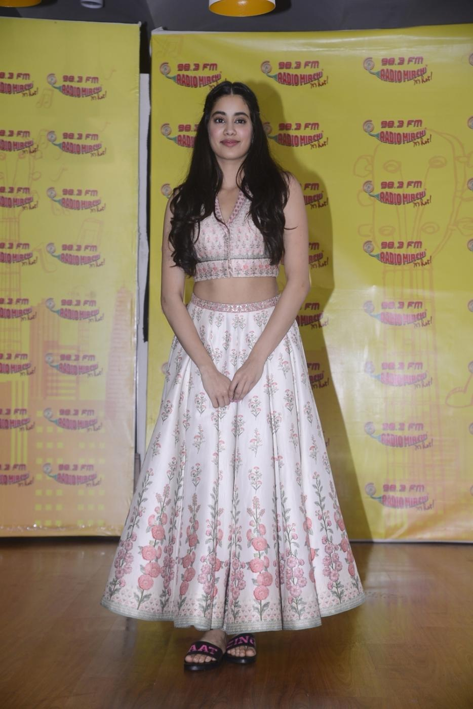 Mumbai: Actress Janhvi Kapoor during the promotion of her upcoming film