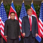 SINGAPORE, June 12, 2018 (Xinhua) -- Top leader of the Democratic People's Republic of Korea (DPRK) Kim Jong Un (L) meets with U.S. President Donald Trump in Singapore, on June 12, 2018. (Xinhua/The Straits Times/IANS) by .