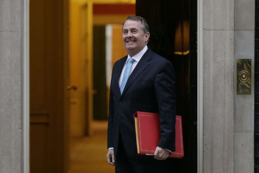 LONDON, Jan. 10, 2018 (Xinhua) -- Liam Fox, Britain's international trade secretary, arrives for the first cabinet meeting of the year, following yesterday's cabinet reshuffle, at 10 Downing Street, in London, Britain, on Jan. 9, 2018. (Xinhua/Tim Ireland/IANS) by .