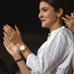 Bengaluru: Actress Anushka Sharma, wife of Royal Challengers Bangalore captain Virat Kohli during an IPL 2018 match between Royal Challengers Bangalore and Mumbai Indians at M.Chinnaswamy Stadium in Bengaluru, on May 1, 2018. (Photo: IANS) by .