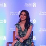 Mumbai: Actress Anushka Sharma during a press conference organised by Standard Chartered Bank, where she was announced its brand ambassador in Mumbai on April 23, 2018. (Photo: IANS) by .