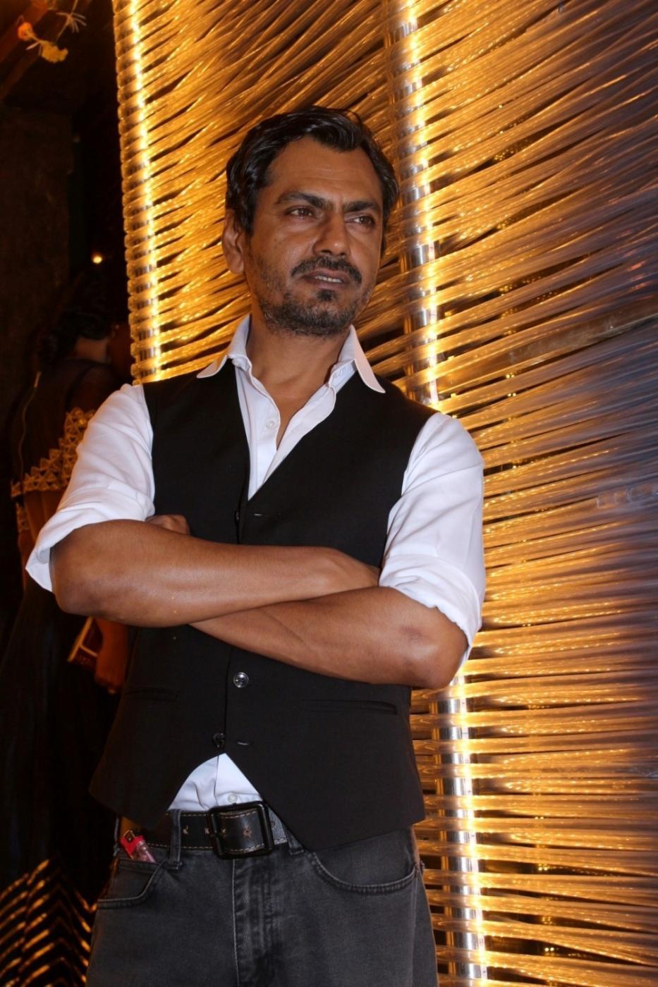 Mumbai: Actor Nawazuddin Siddiqui during the success party of his film