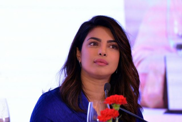 New Delhi: Actress Priyanka Chopra during a panel discussion at Curtain Raiser for Partners' Forum 2018, in New Delhi on April 11, 2018. (Photo: IANS) by .