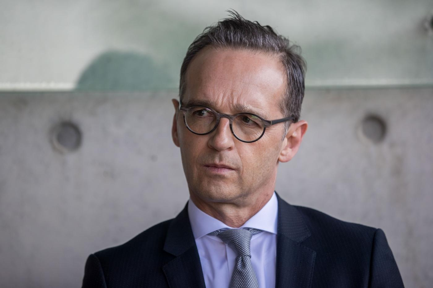 JERUSALEM, March 25, 2018 (Xinhua) -- German Foreign Minister Heiko Maas visits Yad Vashem, the Holocaust Memorial and Museum located in Jerusalem, March 25, 2018. (Xinhua/JINI/IANS) by .