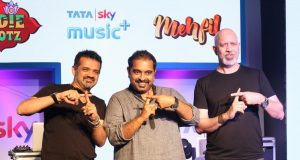Mumbai: Music composer Ehsaan Noorani, Shankar Mahadevan and Loy Mendonsa during the launch of Tata Sky new service with four music genres on a Pay TV platform, named `Music+` in partnership with digital entertainment company Hungama in Mumbai on Oct 12, 2016. (Photo: IANS) by .