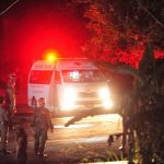 CHIANG RAI, July 9, 2018 (Xinhua) -- An ambulance taking the eighth rescued boy moves to a local hospital in Chiang Rai, Thailand, July 9, 2018. Eight boys have been saved and emerged by Monday evening from a flooded cave where 12 boys and their soccer coach were trapped for more than two weeks. (Xinhua/Rachen Sageamsak/IANS) by .