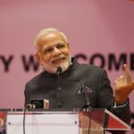 Kigali: Prime Minister Narendra Modi addresses at a ceremonial reception accorded to him by the Indian Community, in Rwanda's Kigali on July 23, 2018. (Photo: IANS/MEA) by .
