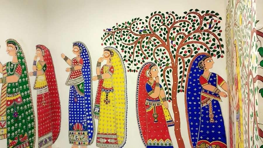 Madhubani Painting, Bihar. by .