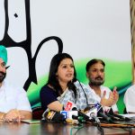 Chandigarh: Congress spokesperson Priyanka Chaturvedi during a press conference in Chandigarh on May 24, 2015. (Photo: IANS) by .