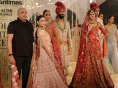 New Delhi: Actress Aditi Rao Hydari walk the ramp for designer Tarun Tahiliani at India Couture Week 2018 in New Delhi on July 25, 2018. (Photo: Amlan Paliwal/IANS) by .