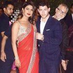 Actress Priyanka Chopra with American singer-songwriter Nick Jonas during pre-engagement party of Akash Ambani and Shloka Mehta at Antilia in Mumbai on June 28, 2018. (Photo: IANS) by .