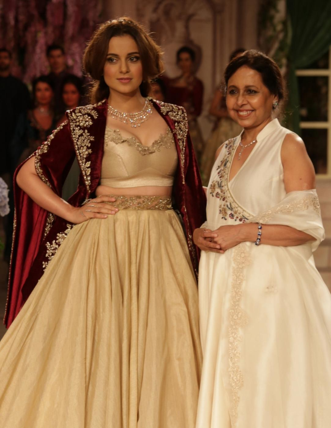 New Delhi: Actress Kangana Ranaut showcase the creations of fashion designer Anju Modi on first day of the India Couture Week 2018 in New Delhi on July 25, 2018.(Photo: Amlan Paliwal/IANS) by .