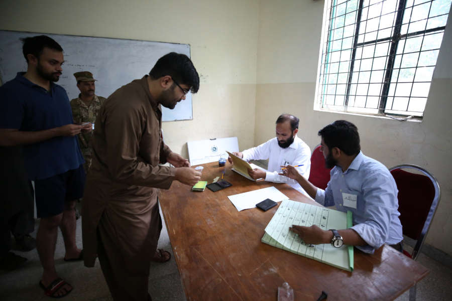 PAKISTAN-ISLAMABAD-GENERAL ELECTIONS by .