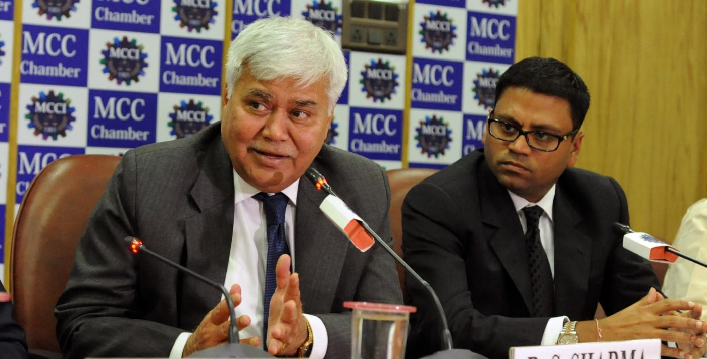 Kolkata: TRAI Chairman RS Sharma addresses during a MCCI Chamber programme on Telecom Revolution in Kolkata, on Dec 3, 2015. (Photo: IANS) by .