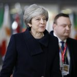 BRUSSELS, Dec. 14, 2017 (Xinhua) -- British Prime Minister Theresa May arrives at the EU headquarters for an EU Summit in Brussels, Belgium, Dec. 14, 2017. (Xinhua/Ye Pingfan/IANS) by .