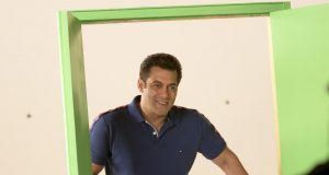 """Mumbai: Actor Salman Khan during the shooting of a promo for his upcoming television show """"10 Ka Dum"""" in Mumbai on Feb 14, 2018. (Photo: IANS) by ."""