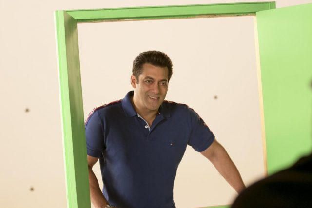 Mumbai: Actor Salman Khan during the shooting of a promo for his upcoming television show