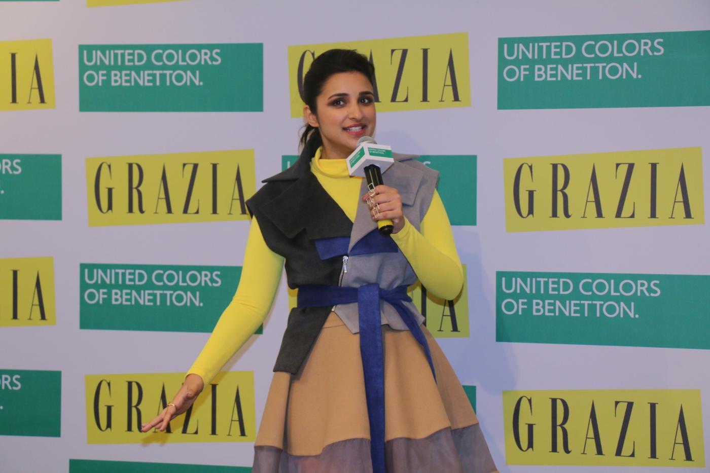 """Mumbai: Actress Parineeti Chopra at the cover launch of """"Grazia"""" magazine in Mumbai on Jan 28, 2018. (Photo: IANS) by ."""