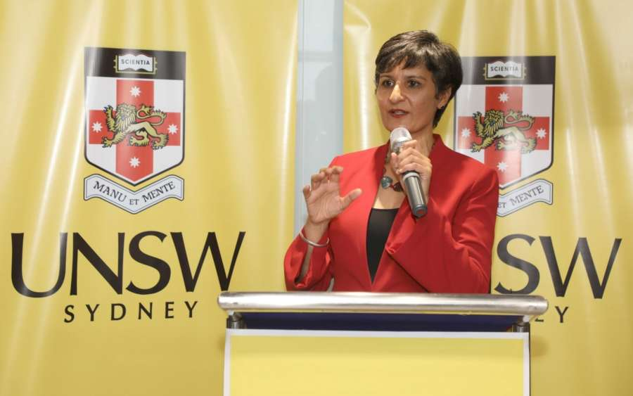 New Delhi: Australian High Commissioner to India Harinder Sidhu speaking at the opening of new centre of University of New South Wales, Sydney at New Delhi on July 17, 2018. (Photo: IANS) by .