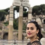 Actress Taapsee Pannu seen on the streets of Rome. by .