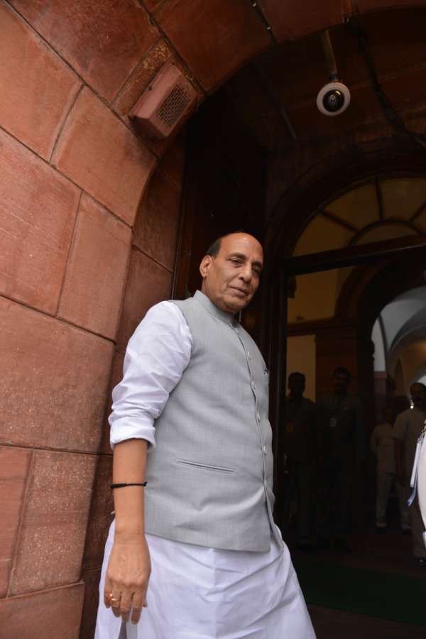 New Delhi: Union Minister and BJP MP Rajnath Singh at Parliament, in New Delhi on July 25, 2018. (Photo: IANS) by .