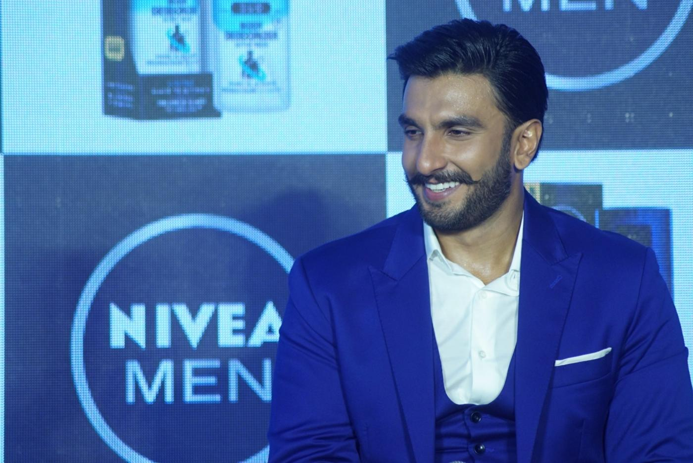 Mumbai: Actor Ranveer Singh during the launch of a product in Mumbai on Aug 4, 2018. (Photo: IANS) by .