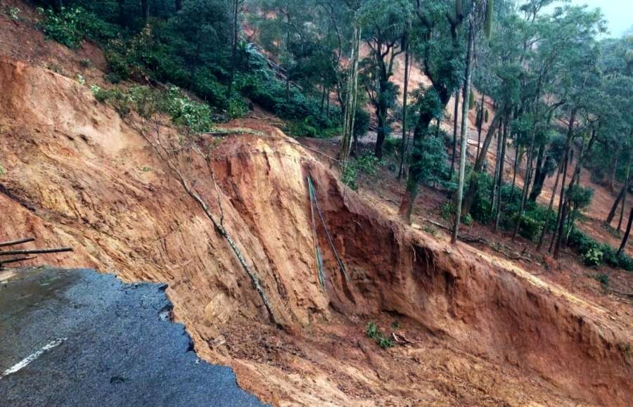 Kodagu: A view of the coffee estate that was destroyed in the recent floods that hit Madikeri in Kodagu district of Karnataka on Aug 26, 2018. (Photo: IANS) by .