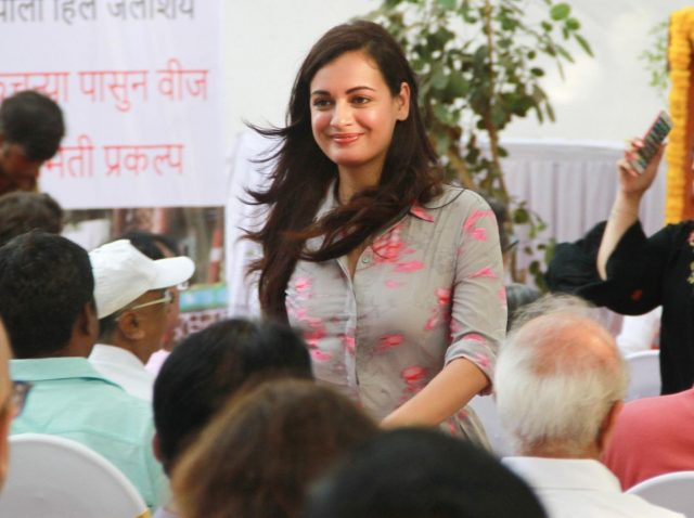 Mumbai: Actress Dia Mirza during inauguration of a waste-to-energy plant in Mumbai on May 6, 2018. (Photo: IANS) by .