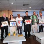 New Delhi: Actress and Wildlife Trust of India (WTI) Brand Ambassador Dia Mirza, Central Board of Film Certification (CBFC) Chairman Prasoon Joshi and other dignitaries at the inaugural programme of 'Gaj Mahotasav' organised on the occasion of World Elephant Day', in New Delhi on Aug 12, 2018. (Photo: Amlan Paliwal/IANS) by .