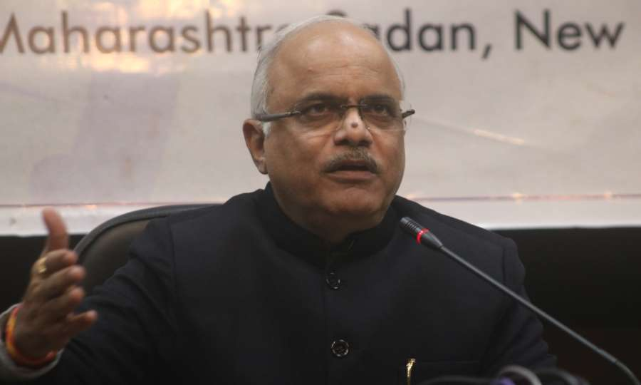 """New Delhi: BJP MP Vinay Sahasrabuddhe addresses a press conference on """"One Nation, One Election"""" in New Delhi on Jan 17, 2018. (Photo: IANS) by ."""