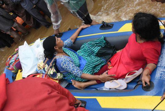 Kochi: Rescue operations underway in Kochi, Kerala on Aug 18, 2018. (Photo: IANS) by .